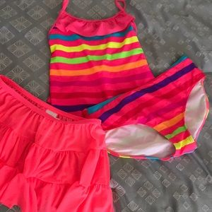 3 piece Xhilaration Swimsuit in Bright Colors